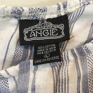 Angie Tops - Angie one shoulder ruffle top striped cotton